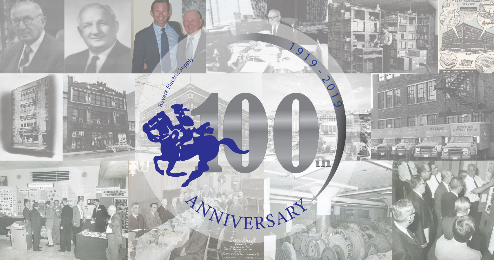 Revere Electric 100 year collage