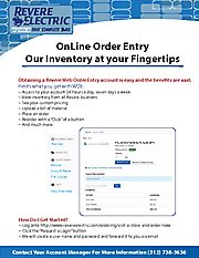 RevereElectric.com web order entry